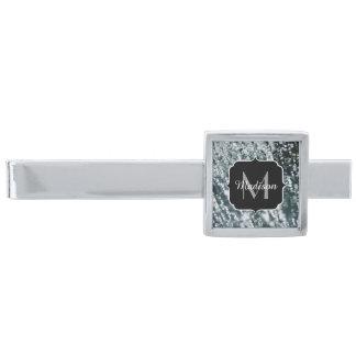 Fryst is för silver bubblar sparkles monogramen slipsnål med silverfinish