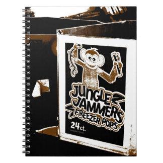Fryst popanteckningsbok för djungel Jammers Anteckningsbok Med Spiral
