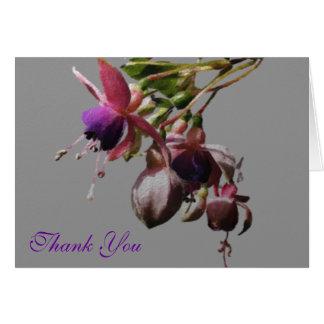 Fuchsia designkonstverk hälsningskort