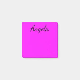 Fuchsia fast färg för personlig kom ihåg block