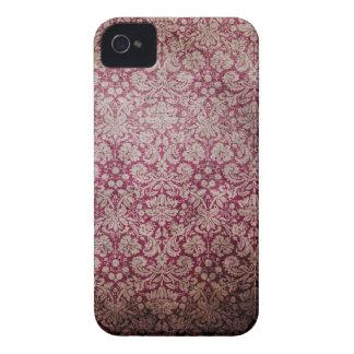Fuchsia fodral för vintagetryckblackberry bold iPhone 4 Case-Mate cases