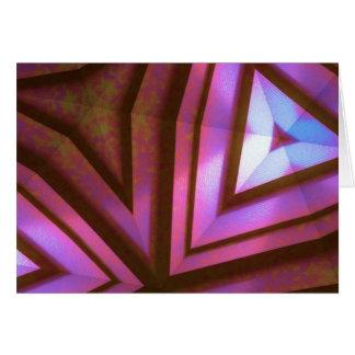 Fuchsia kaleidoscope hälsningskort