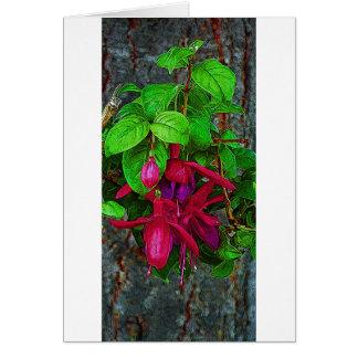 Fuchsia magentafärgat långt hälsningskort
