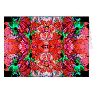 Fuchsia Mandalahälsningkort Hälsningskort