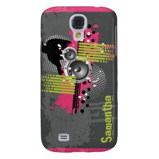 Fuchsia modern Grunge DJ Galaxy S4 Fodral