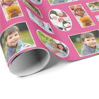 Fuchsia rosahelgdag för foto som slår in papper presentpapper