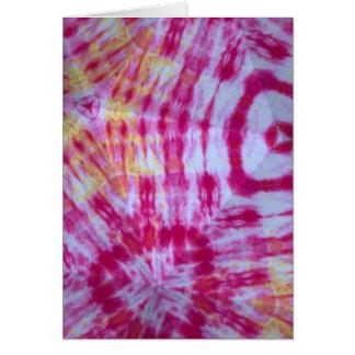 Fuchsia Tie-Färg Kaleidoscopekort Hälsningskort