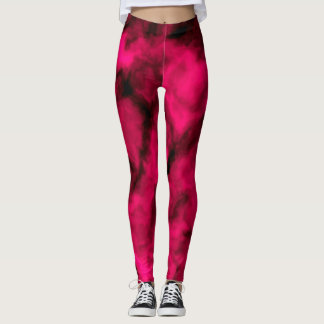 Fuchsiamolnabstrakt Leggings