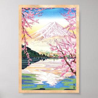 Fuji från den Kawaguchi Okada Koichi shinhangaen j Poster