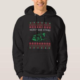 Ful jultröja för halv lastbil hoodie