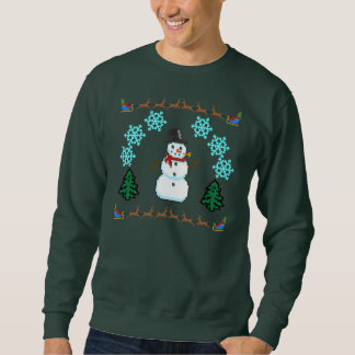 Ful jultröja - snögubberen Santa Lång Ärmad Tröja