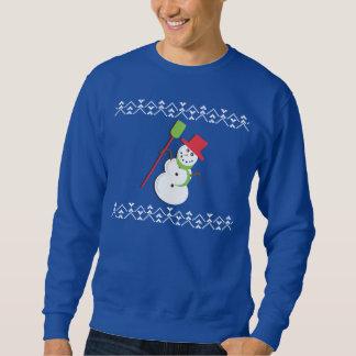 Ful jultröjasnögubbe sweatshirt
