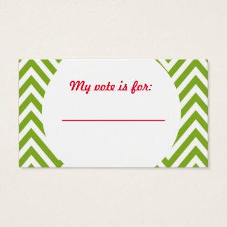 Ful sluten omröstning för röstning för visitkort