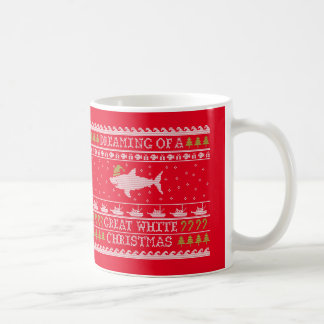 Ful tröjahaj - underbar vitjul kaffemugg