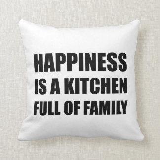 Full familj för lyckakök prydnadskudde