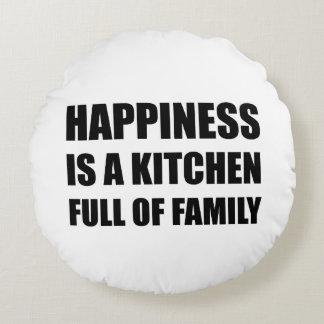 Full familj för lyckakök rund kudde