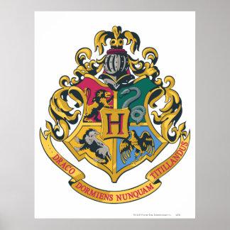 Full färg för Hogwarts vapensköld Poster