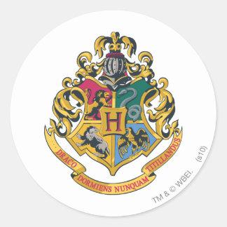 Full färg för Hogwarts vapensköld Runt Klistermärke