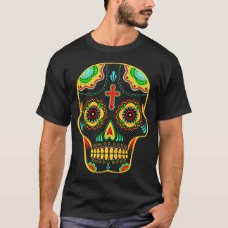 Full färg för sockerskalle t-shirts