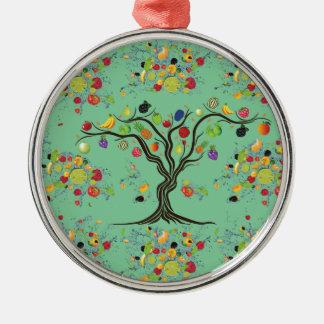 Full frukt julgransprydnad metall