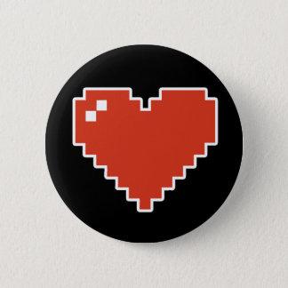 full hjärta 8bit standard knapp rund 5.7 cm