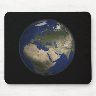 Full jord beskådar av afrika, Europa och mittet E Musmatta