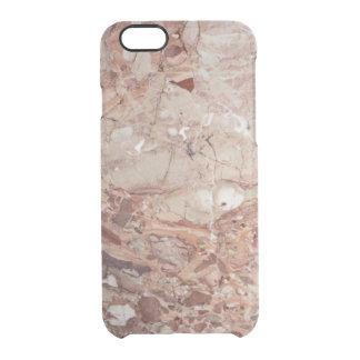 Fullföljande för Burgundy Crimson Stoney Clear iPhone 6/6S Skal