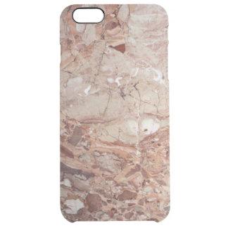 Fullföljande för Burgundy Crimson Stoney Clear iPhone 6 Plus Skal
