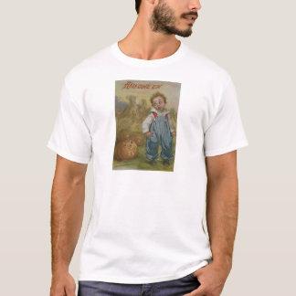 Fullmåne för höstack för pojkejack o lanternpumpa t-shirts