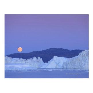 Fullmåne över isberg vykort
