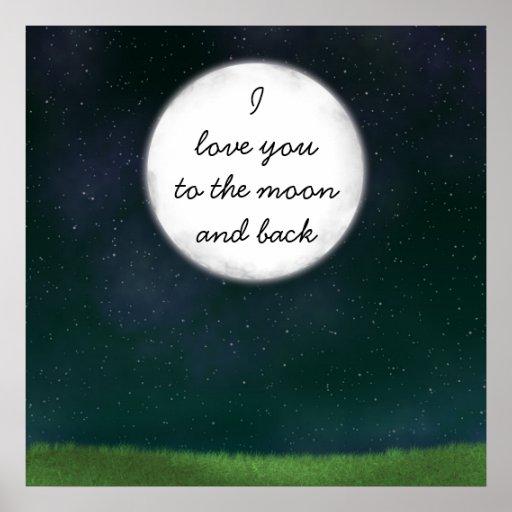 Fullmånekärlek dig affisch