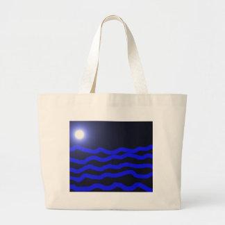 Fullmoon över hav kasse