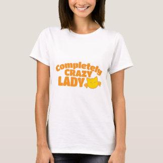 Fullständigt galen KATTdam T Shirts
