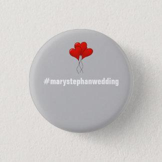 Fullt anpassadebröllop knäppas - Hashtag Mini Knapp Rund 3.2 Cm