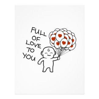 """Fullt av kärlek till dig 8,5"""" x 11"""" brevhuvud"""