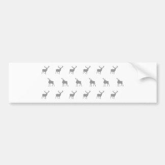 Fullvuxen hankronhjort för Emma Janeway silvergrå  Bildekal