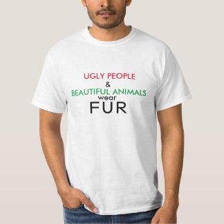 Fult folk för Veganskjorta och härlig djurpäls T-shirt