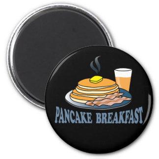 Fundraiser för pannkakabaconfruktsaft magnet
