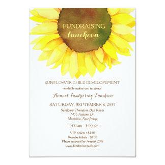 Fundraising Luncheoninbjudan för gullig solros 12,7 X 17,8 Cm Inbjudningskort