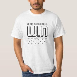fungera till seger den roliga T-tröja för lotterit Tee