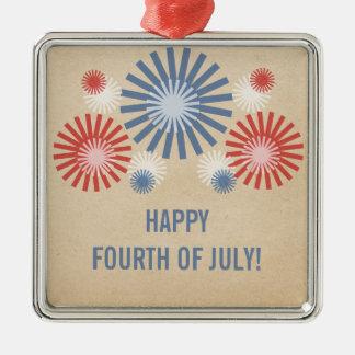 Funky 4th av den Juli fyrverkeriprydnaden Julgransprydnad Metall