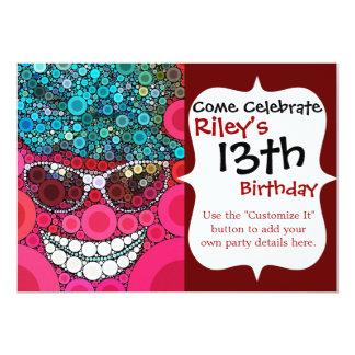 Funkycoola som ler blått för rosor för 12,7 x 17,8 cm inbjudningskort