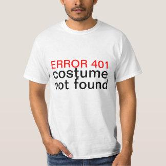 Funnit fel 401 för Halloween dräkt inte T Shirt