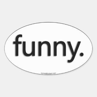 funny ovala klistermärken