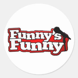 Funnys rolig logotypsaker runda klistermärken