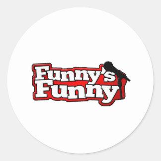 Funnys rolig logotypsaker runt klistermärke