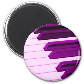 Fusha rosa piano eller organtangentbord magnet