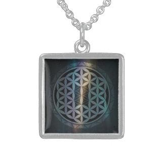 fusion_aurora_mandala sterling silver halsband