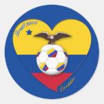 Fútbol de ECUADOR. Ecuadorian National Team Soccer Runt Klistermärke