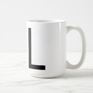 """Futura typografi """"L"""" mugg"""